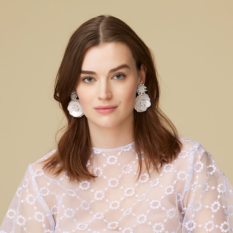 Marnie Earrings White