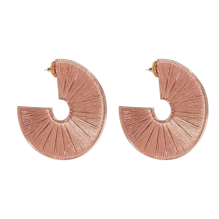 Mega Fiona Hoops Rose Gold