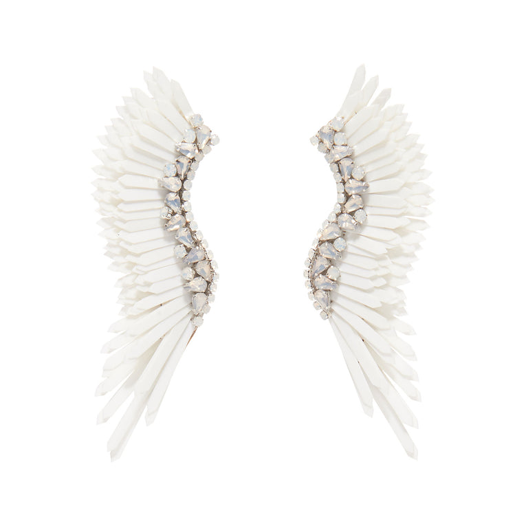 Mignonne Gavigan Mega Madeline Earrings in white color