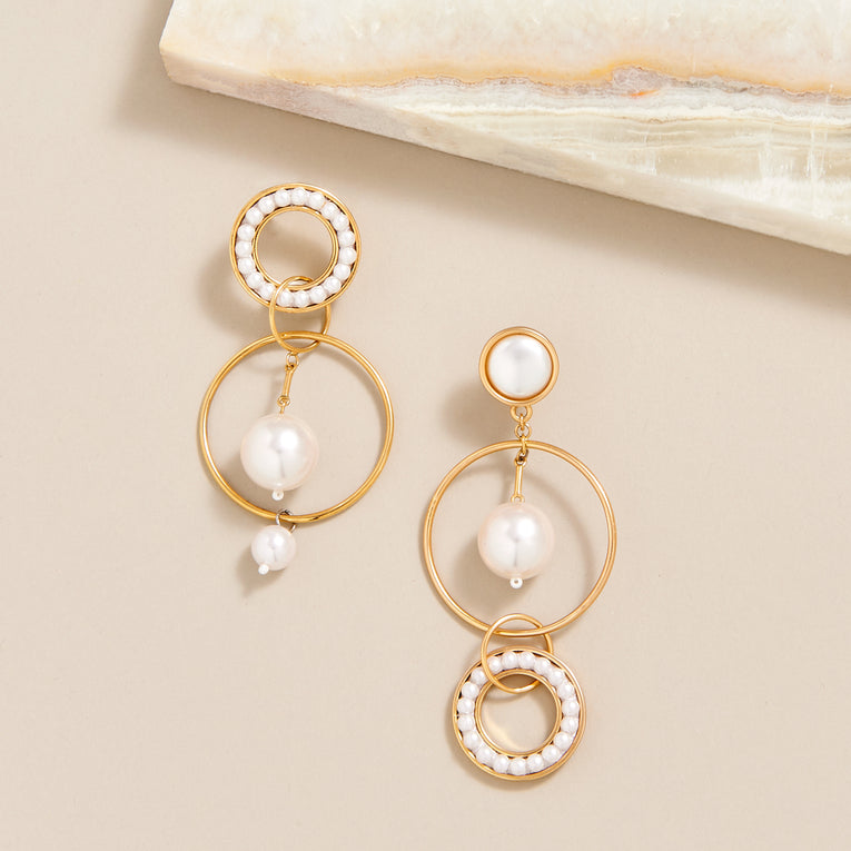 Mignonne Gavigan Mika Mismatch Earrings White