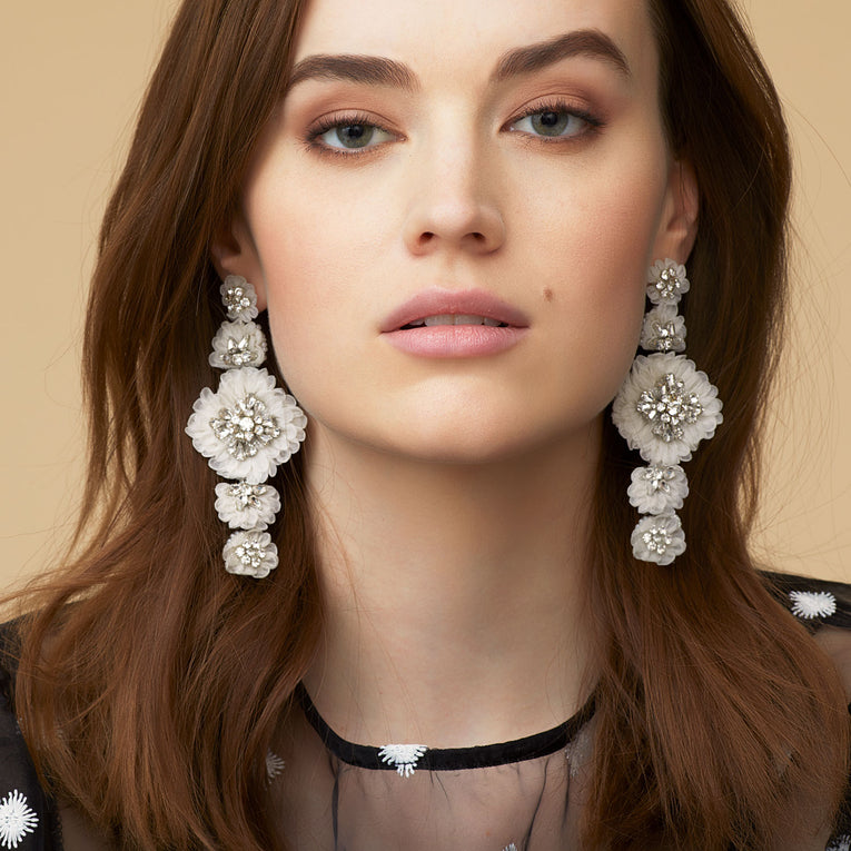 Mila Lux Earrings in Ivory