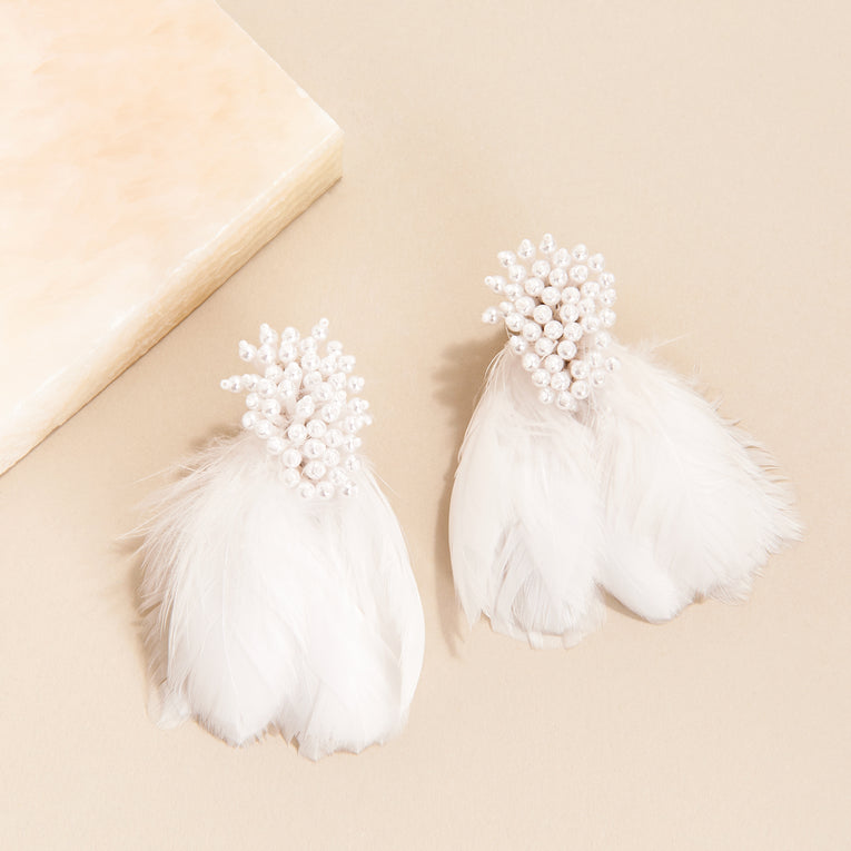 Mignonne Gavigan Mini Delaney Earrings White