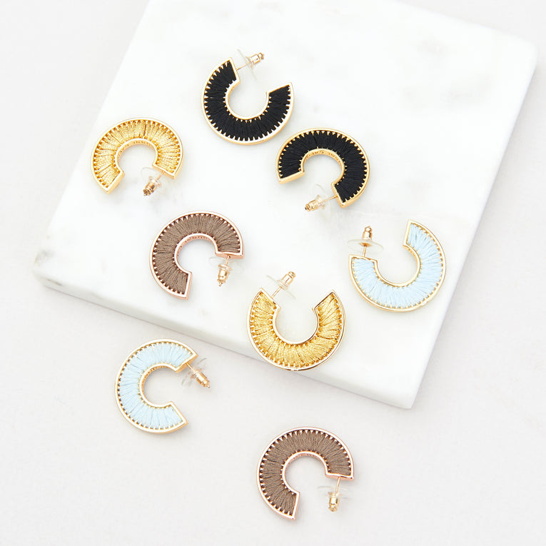 Mini Fiona Hoops Gold