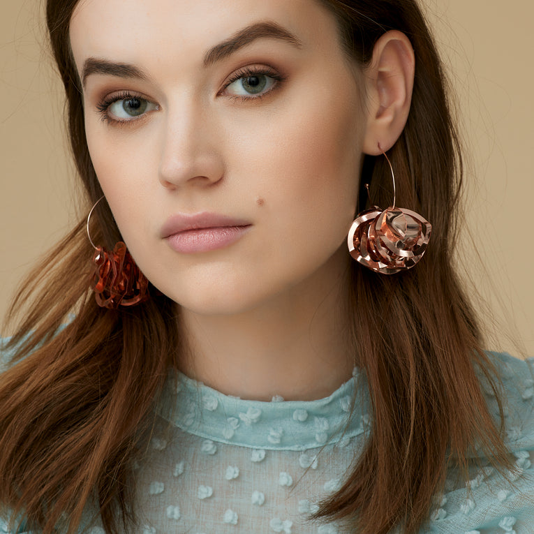 Mignonne Gavigan Mini Lola Hoop Earrings in rose gold color