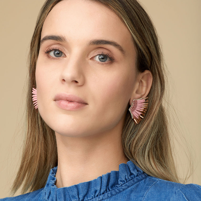 Mignonne Gavigan Mini Madeline Earrings in blush rose gold color