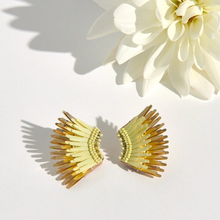 Mignonne Gavigan Mini Madeline Earrings Lime Gold