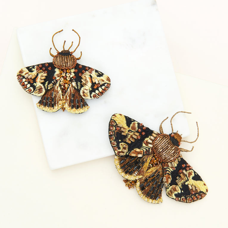 Mini Moth Brooch Bronze