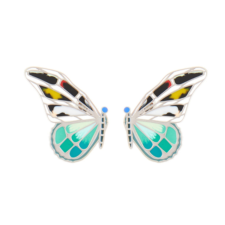 Mignonne Gavigan Mixed Butterfly Stud Earrings in Turquoise