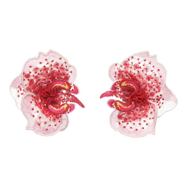 Orchid Earrings Pink/Red