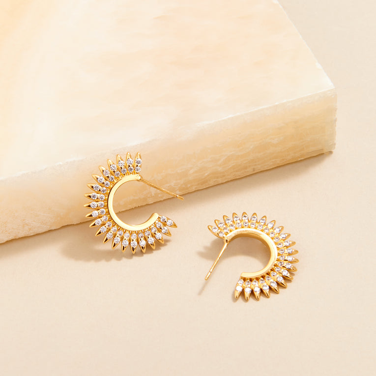 Mignonne Gavigan Orzo Small Hoop Earrings Gold