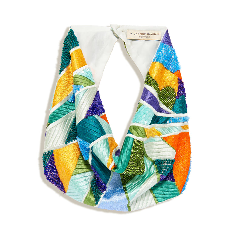 Paradise Palm Scarf Necklace Multi