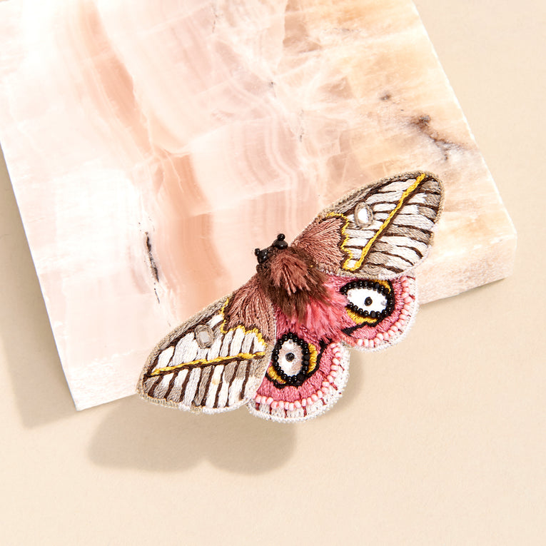 Mignonne Gavigan Moxie Butterfly Brooch in pink