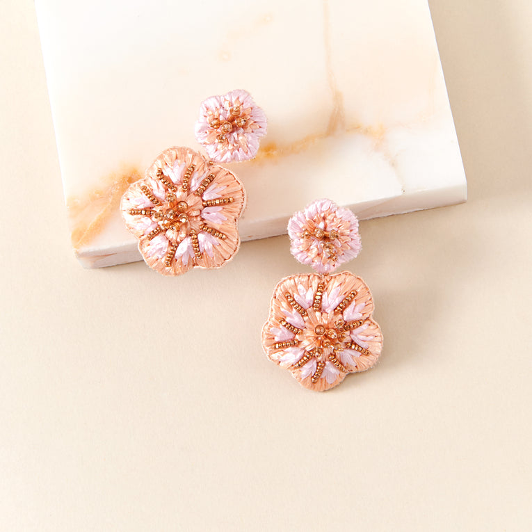 Mignonne Gavigan Rae Drop Earrings in blush