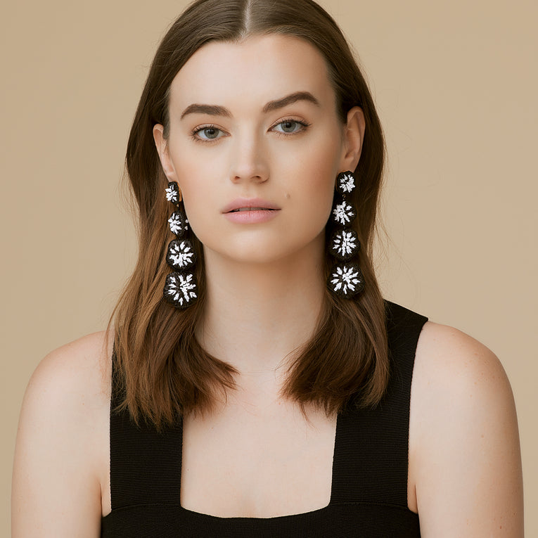 Rae Earrings Black/White