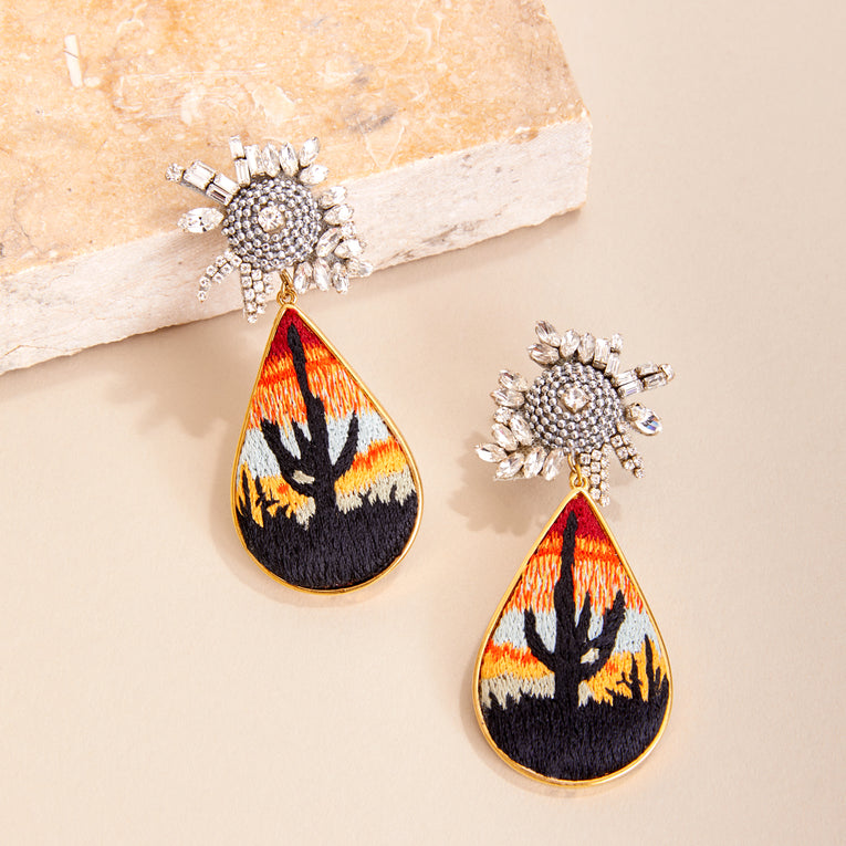Mignonne Gavigan Sedona Earrings in Burnt Orange