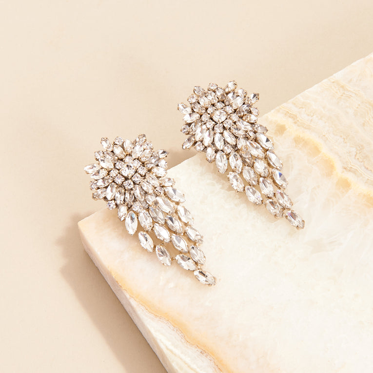 Mignonne Gavigan Stella Earrings Silver Crystal