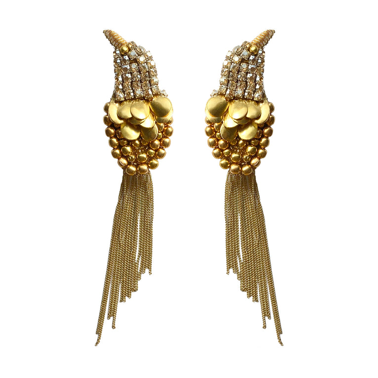 Mignonne Gavigan Telluride Bird Earrings Gold