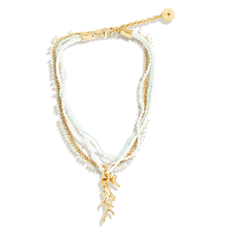 Treasure Cay Necklace Mint Gold