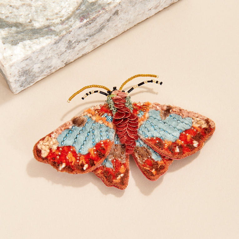 Mignonne Gavigan Willa Butterfly Brooch in red