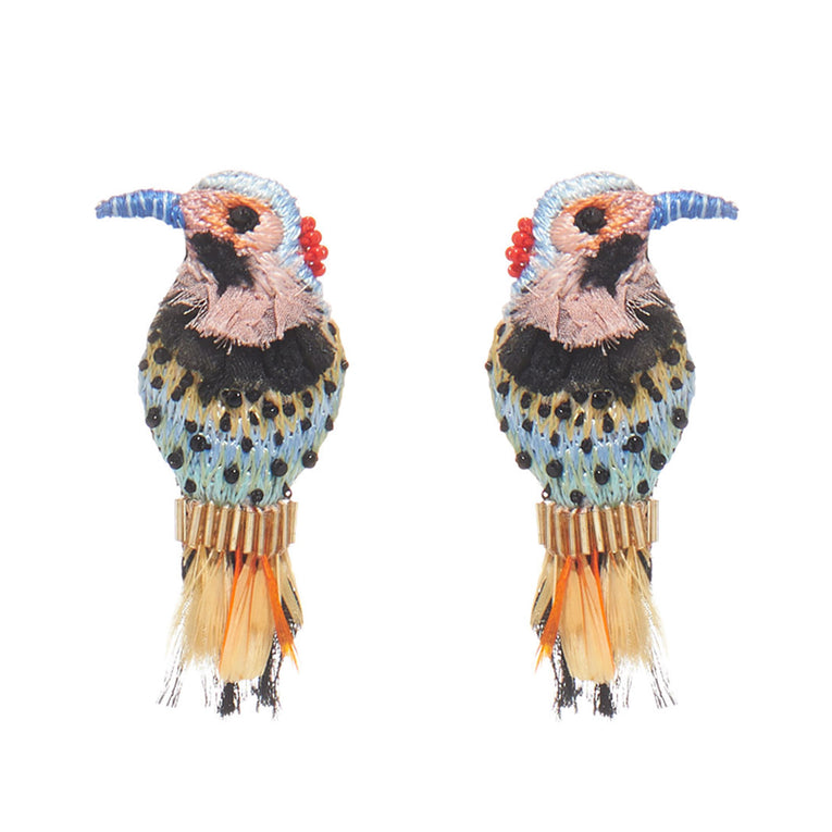 Woodpecker Earrings Multi