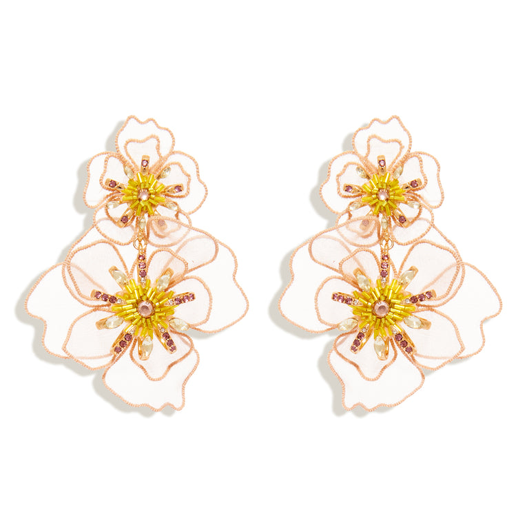 Zinnia Lux Earrings Pink