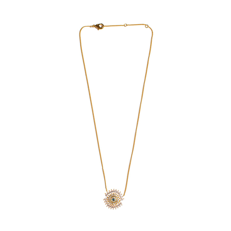 Mignonne Gavigan Crystal Eye Necklace Gold