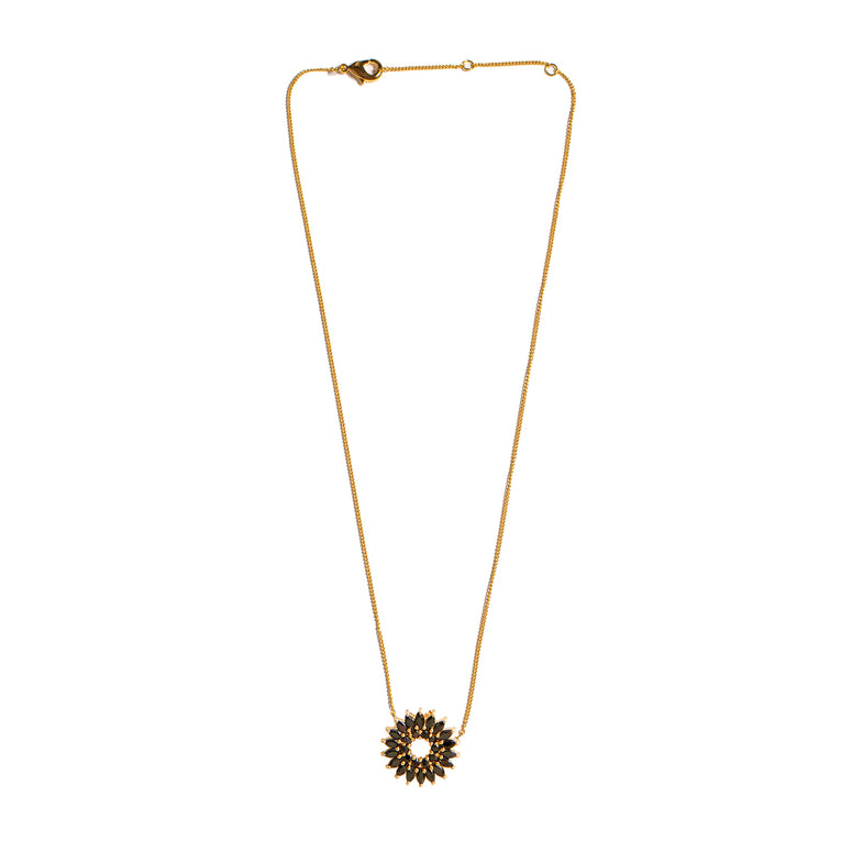 Mignonne Gavigan Crystal Burst Necklace Black Gold