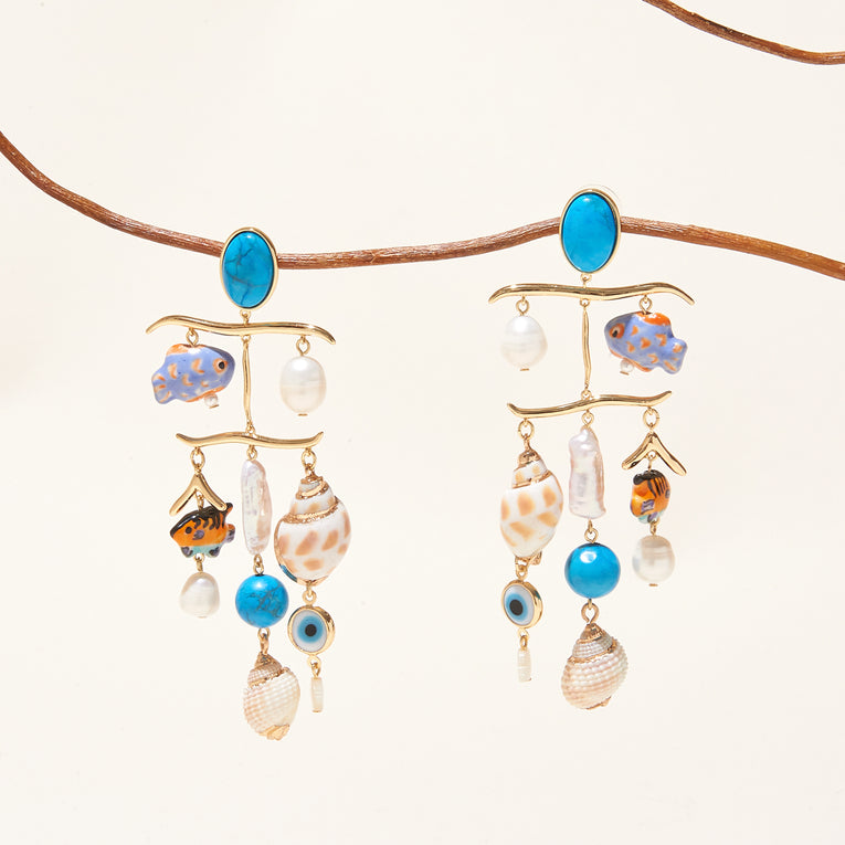 Andros Charm Earrings Multi