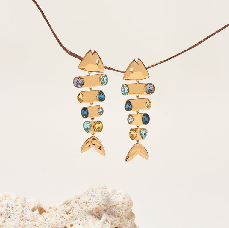 Baha Mar Fish Earrings Multi