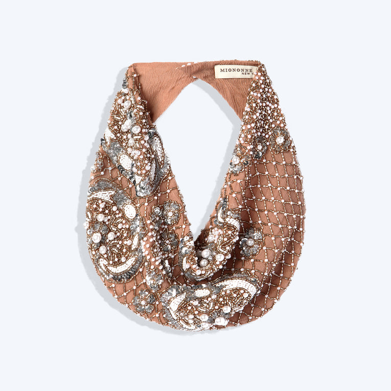 Mignonne Gavigan Le Charlot Scarf Necklace in Nude
