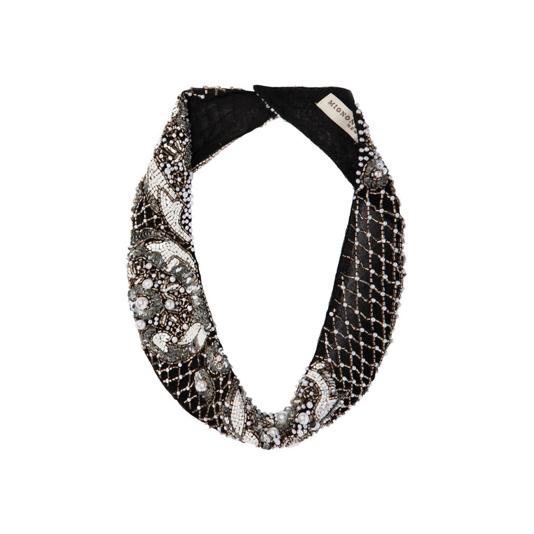 Mignonne Gavigan Charo 4 Pearl Necklace in Black
