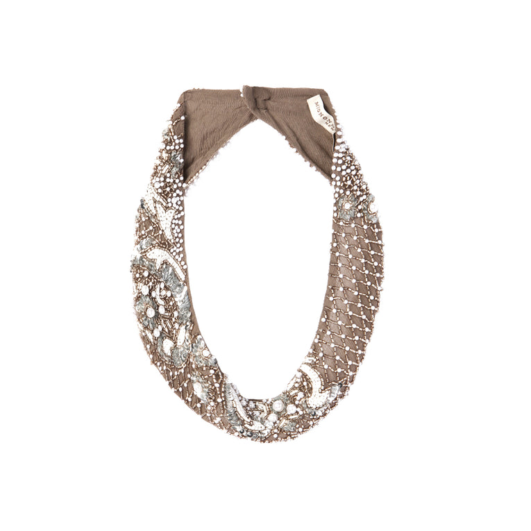 Mignonne Gavigan Charo 4 Pearl Necklace in Grey