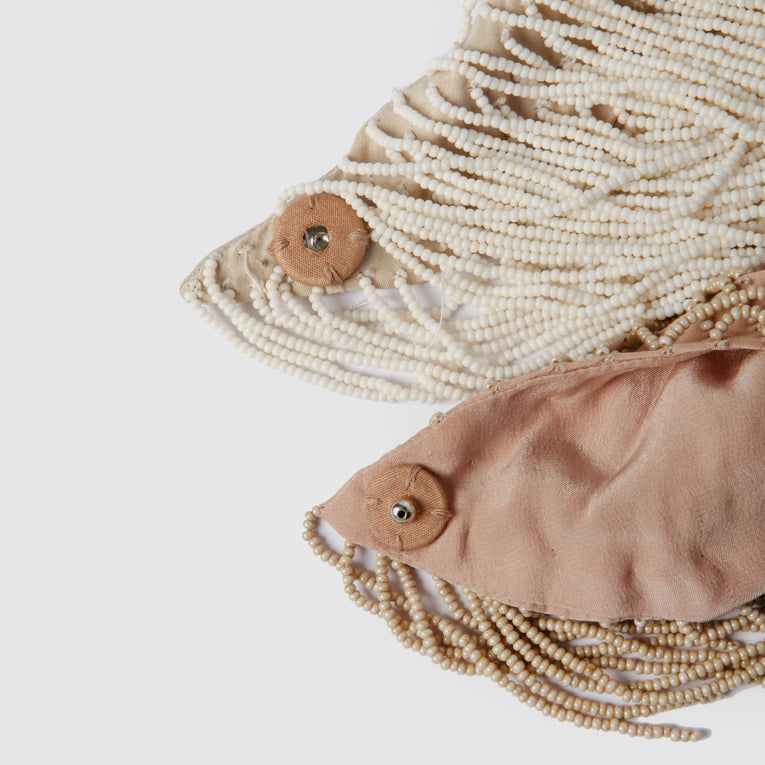 Mignonne Gavigan Le Marcel Scarf Necklace in light pink color