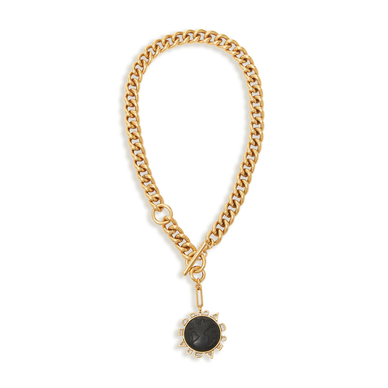 Odyssey Necklace Black Gold