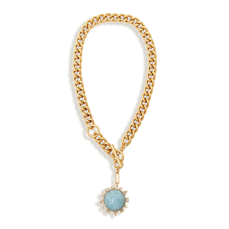 Odyssey Necklace Blue Gold