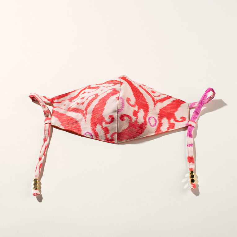 Liberty Print Mask Orange Pink