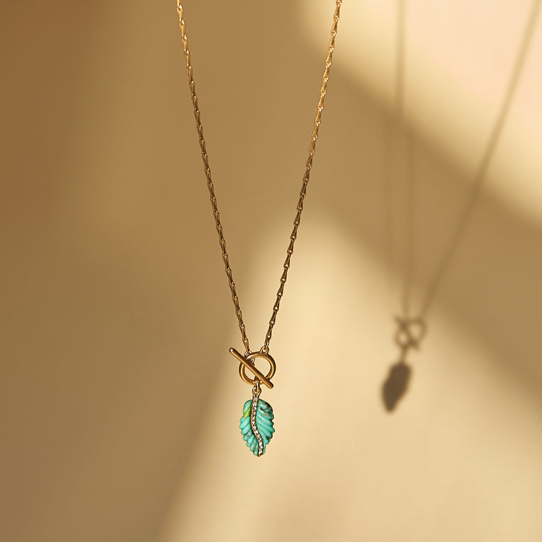 Serenity Necklace Turquoise Gold