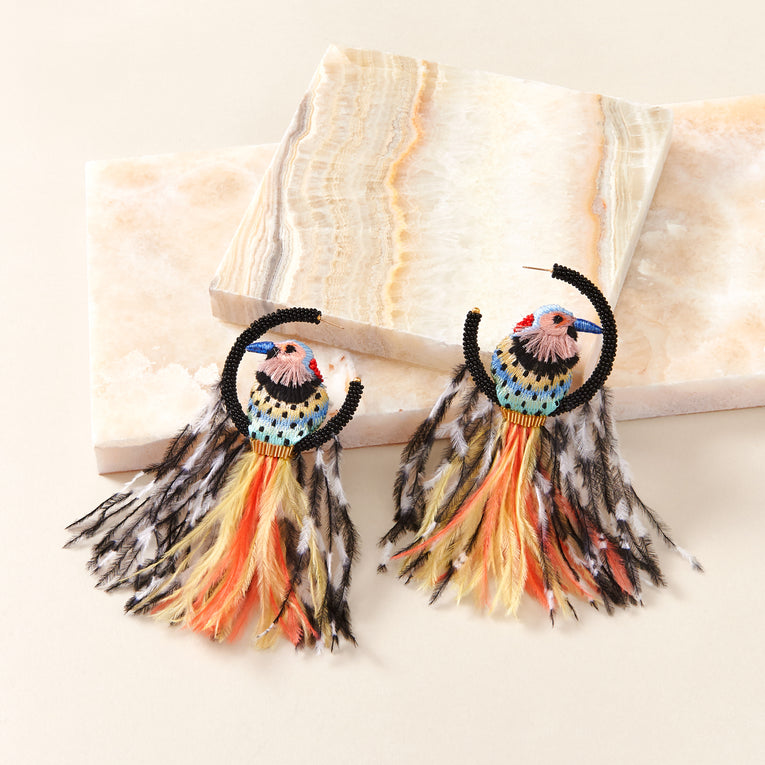 Woodpecker Lux Earrings Multi