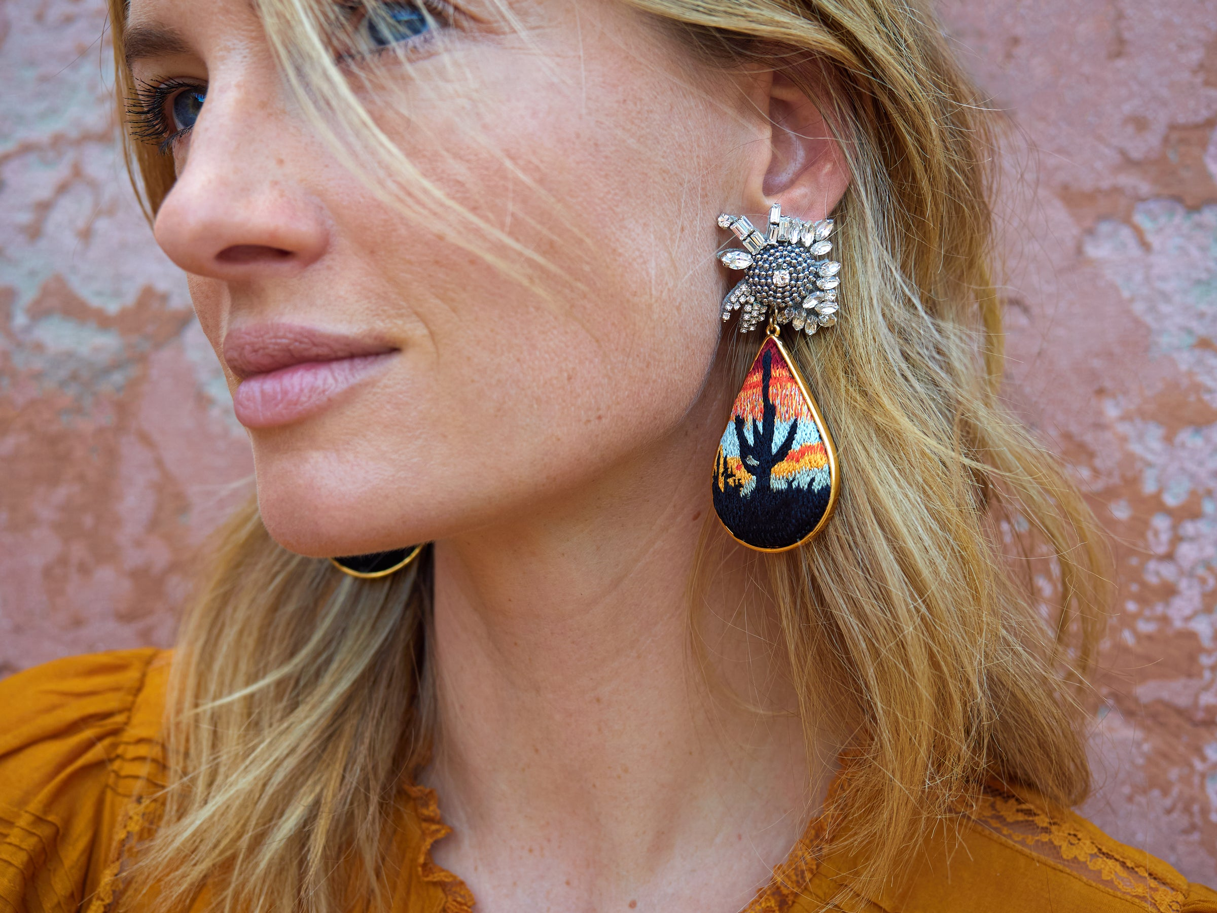 Mignonne Gavigan Sedona Earrings Burnt Orange