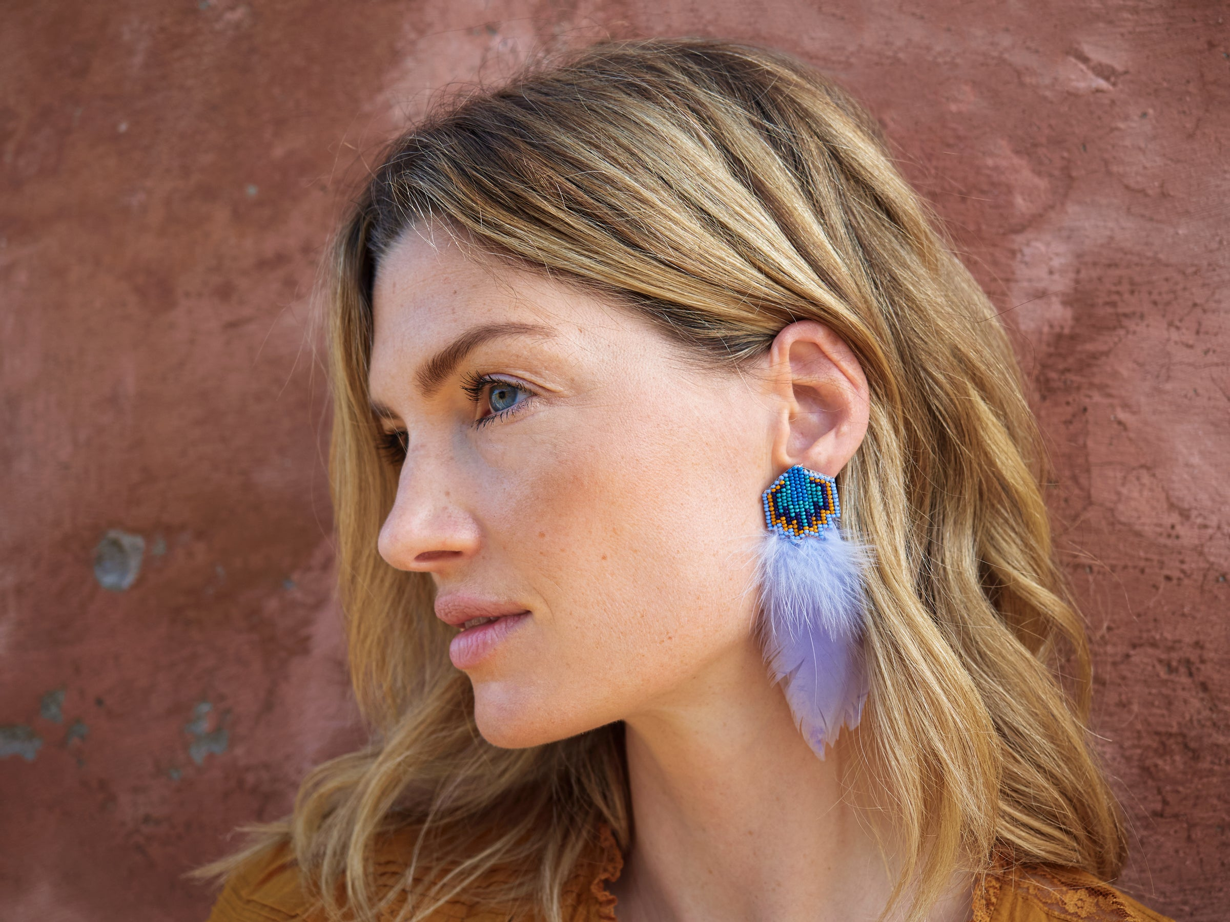 Mignonne Gavigan Bowie Earrings Light Lilac