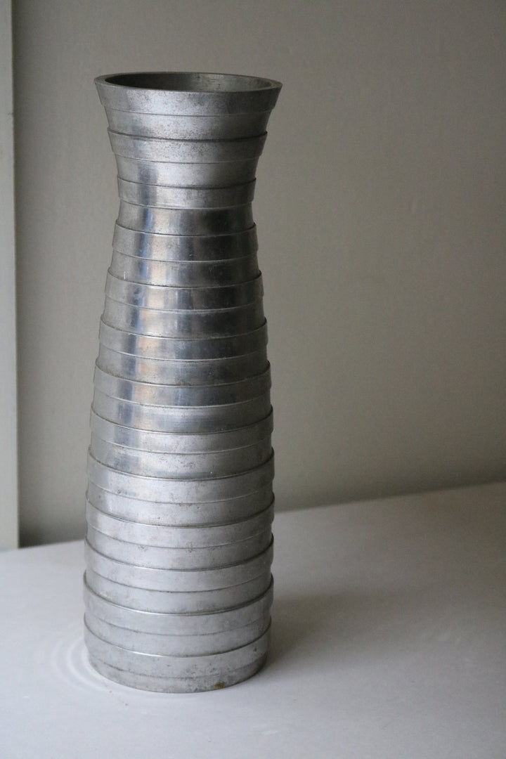 Ribbed Metal Vase - Form + Beyond graphic mirrors & wall art gallery london