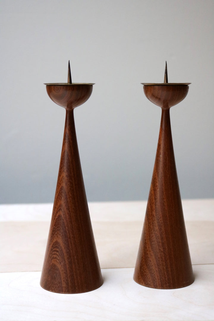 Rosewood Candle holders - Form + Beyond graphic mirrors & wall art gallery london