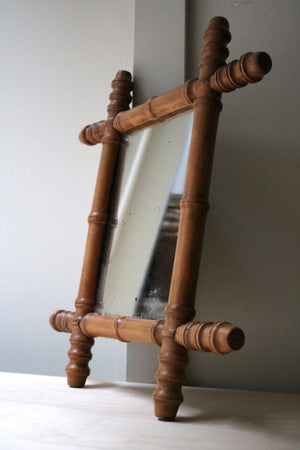 Vintage wooden mirror - Form + Beyond graphic mirrors & wall art gallery london