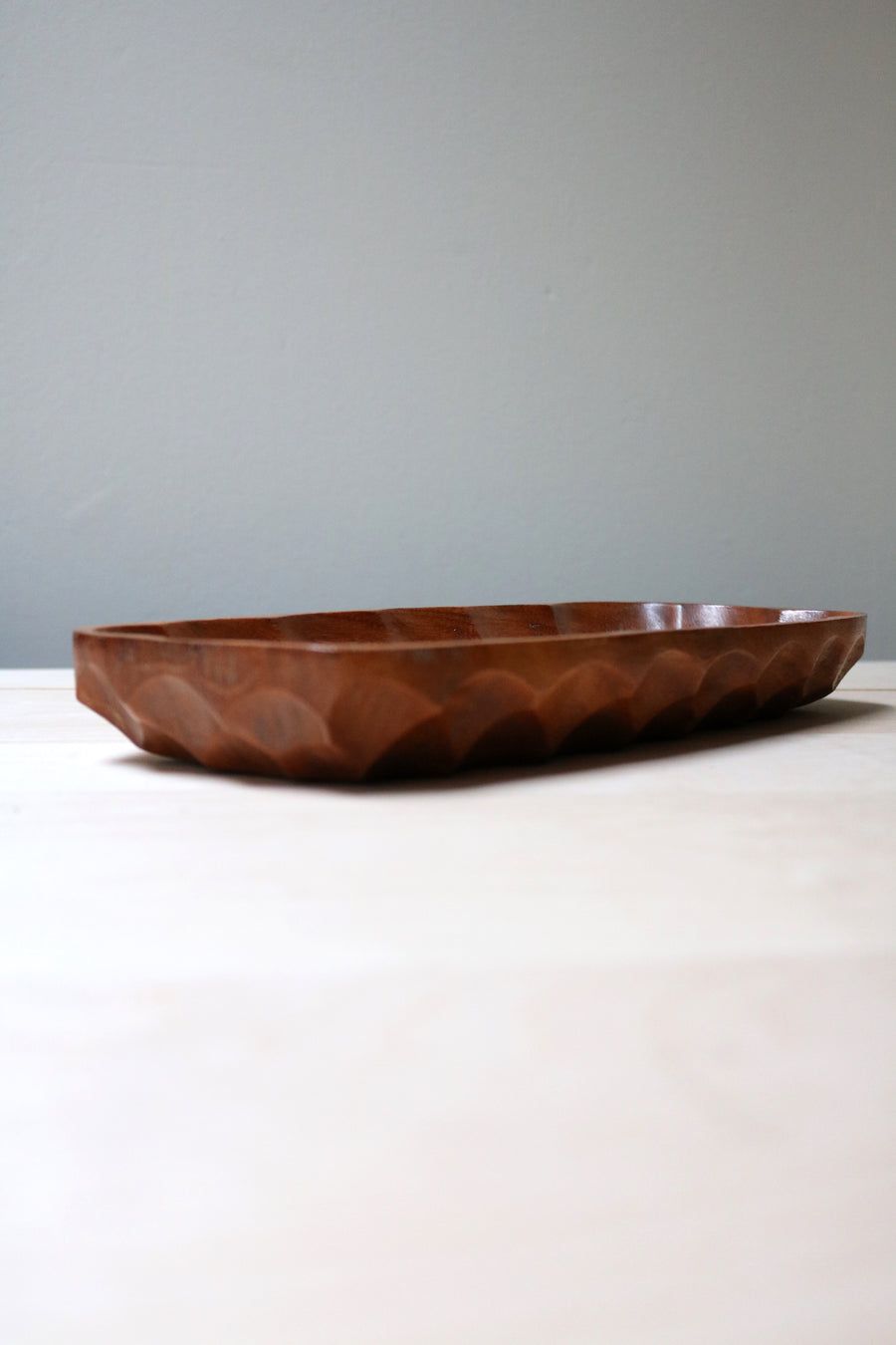 Teak wood tray - Form + Beyond graphic mirrors & wall art gallery london