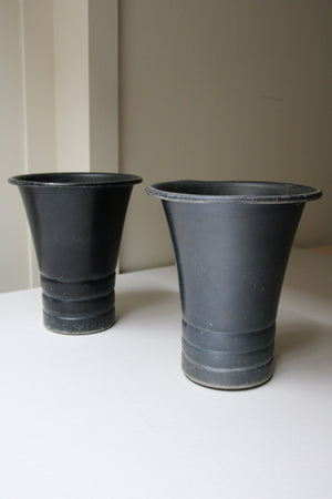 Gunmetal Planters - Form + Beyond graphic mirrors & wall art gallery london