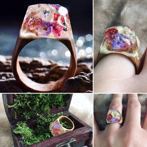 Our Reviews Secret Wood - Inside each of these wooden rings is a beautiful hidden world
