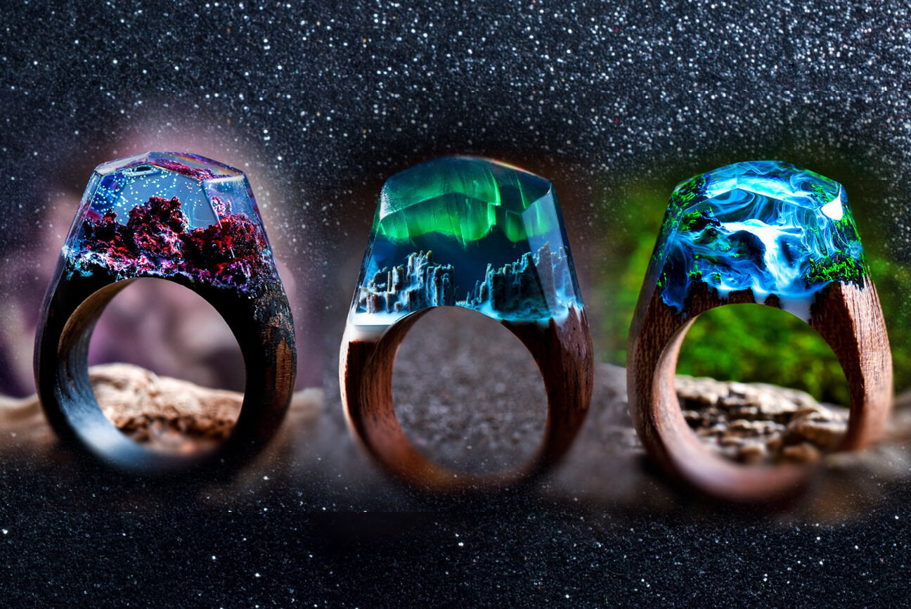 Secret Wood Inc Believe In Magic - Inside each of these wooden rings is a beautiful hidden world