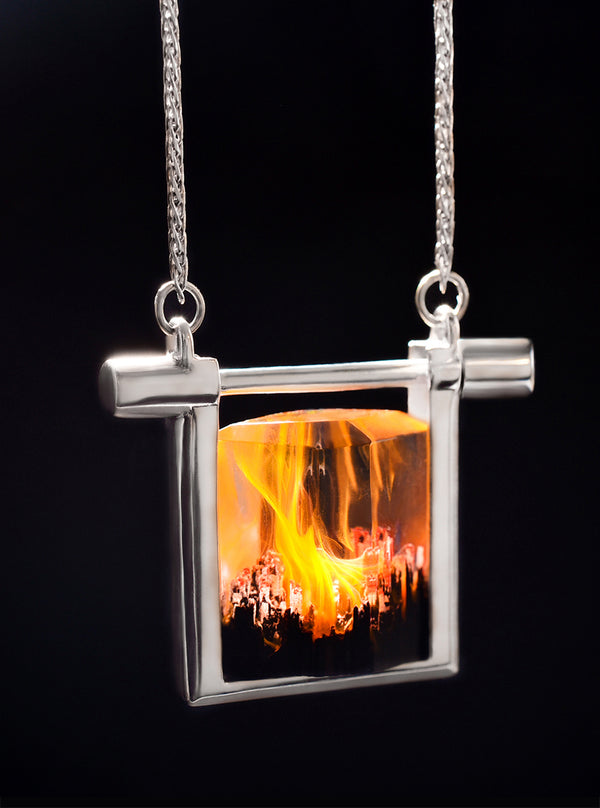 Silver Ember Spirit Necklace