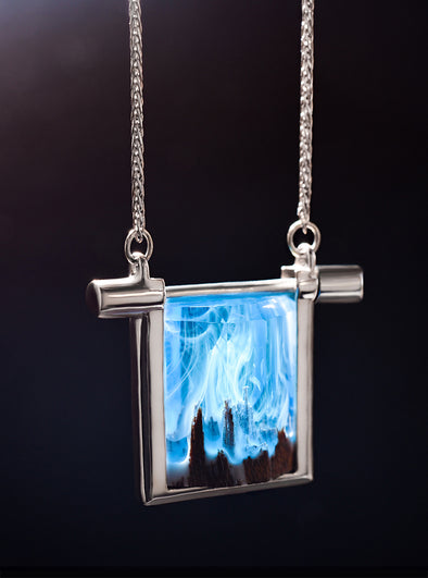Silver Waltz of the Winds! Necklace - Secret Woods