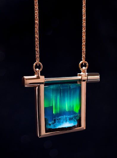 Gold Aurora Borealis Necklace - Secret Woods